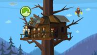 Skończony domekna drzewie