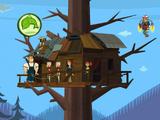 Domek na drzewie drużyny Kinosewak