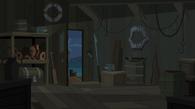Wnętrze hangaru dla łodzi