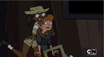 Jasmine przytula Tophera