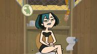 Gwen w stroju kąpielowym w pokoju zwierzeń
