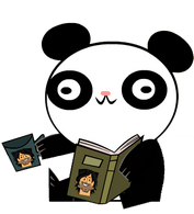 Panda czyta