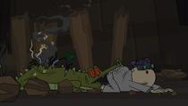 Maxa gryzie mechaniczny krokodyl .