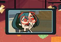 Gwen z domalowantmi oczami