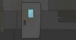 Drzwi Skoku Wstydu od zewnątrz