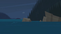 Jezioro Pahkitew nocą