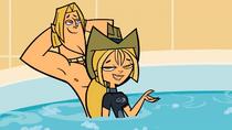 Geoff i Bridgette w saunie