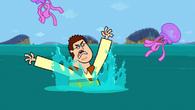 S05E02 Sam użarty przez meduze