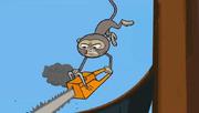 Małpa z piłą łańcuchową