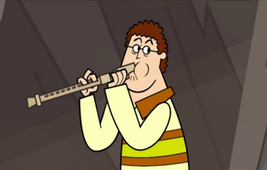 S04E03 Sam gra na flecie