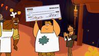 Owen z czekiem na 100.000 dolarów