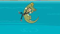 Aligator walczący z Duncanem