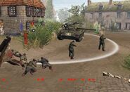 Soviet troops US tank Heringen