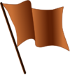 Brown flag