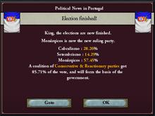 Portuguese legislative election, 1844