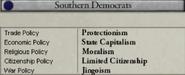 Southern Democrats stances