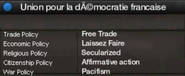 Union for French Democracy views