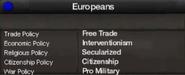Europeans views