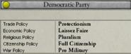 Democratic Party liberal views