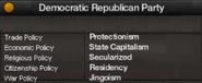 Democratic Republican Party of South Korea views