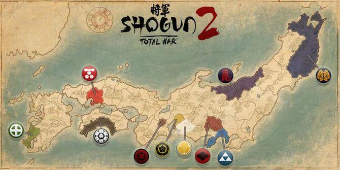 Shogun 2 Total War map
