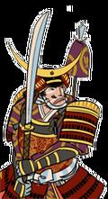 Samurai inf naginata samurai hero