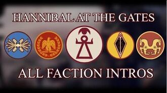 Total War Rome II - All Hannibal at the Gates Faction Intros