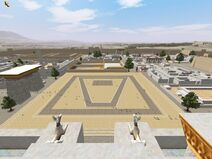 Vista de una ciudad egipcia