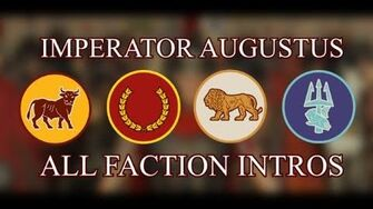 Total War Rome II - All Imperator Augustus Faction Intros