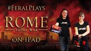Feral plays ROME Total War on iPad!