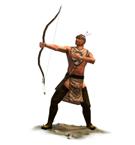 Native american archers bow