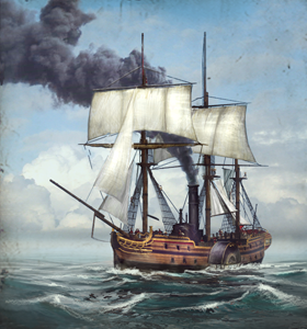 Steam Paddle Frigate NTW