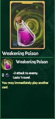 Weakening Poison