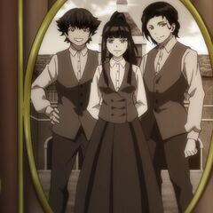 Hank, Elaine, Cain.