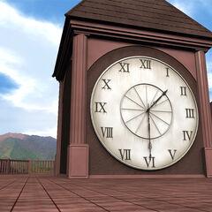 La torre del reloj vista desde el techo