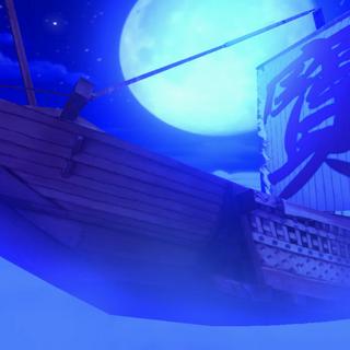 El Barco Palanquin en la noche en Urban Legend in Limbo