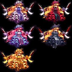 Las diferentes paletas de colores de Yukari de <a href=