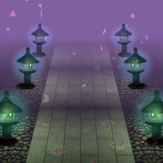 Camino al Templlo Myouren en el nivel 2 de Ten Desires