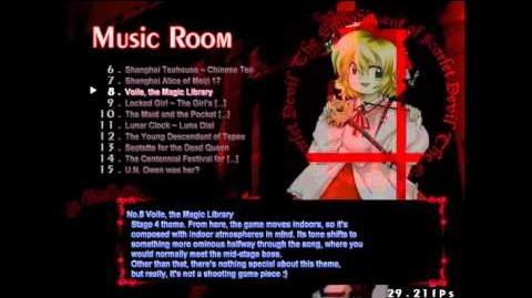 【東方紅魔郷】 Touhou EoSD - Rin Satsuki in Music room-0