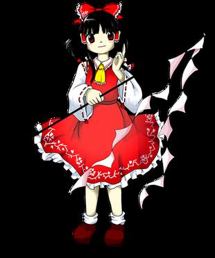 <small><small>はくれい れいむ</small></small><br />博麗 霊夢<br />Reimu Hakurei