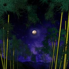 El bosque con la luna verdadera en <a href=