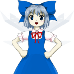 Artwork de Cirno en DDC