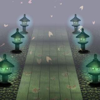 Camino al Templlo Myouren en el nivel extra de Ten Desires