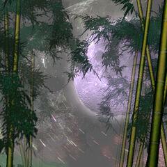 El bosque con la luna falsa en <a href=