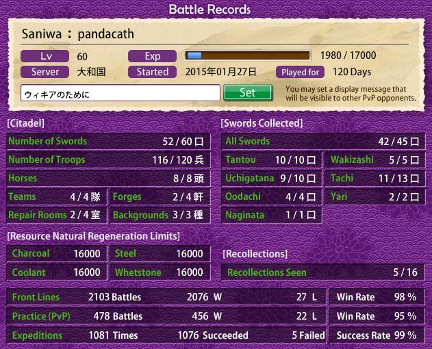 Battle records