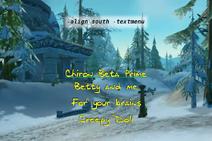 Align south -textmenu
