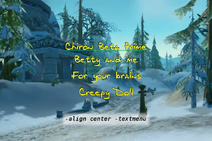 Align center -textmenu