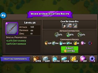 Wand of Annihilation recipe