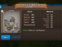 Skeletal Archer Status Max