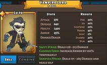 Vampire Lord Status Max